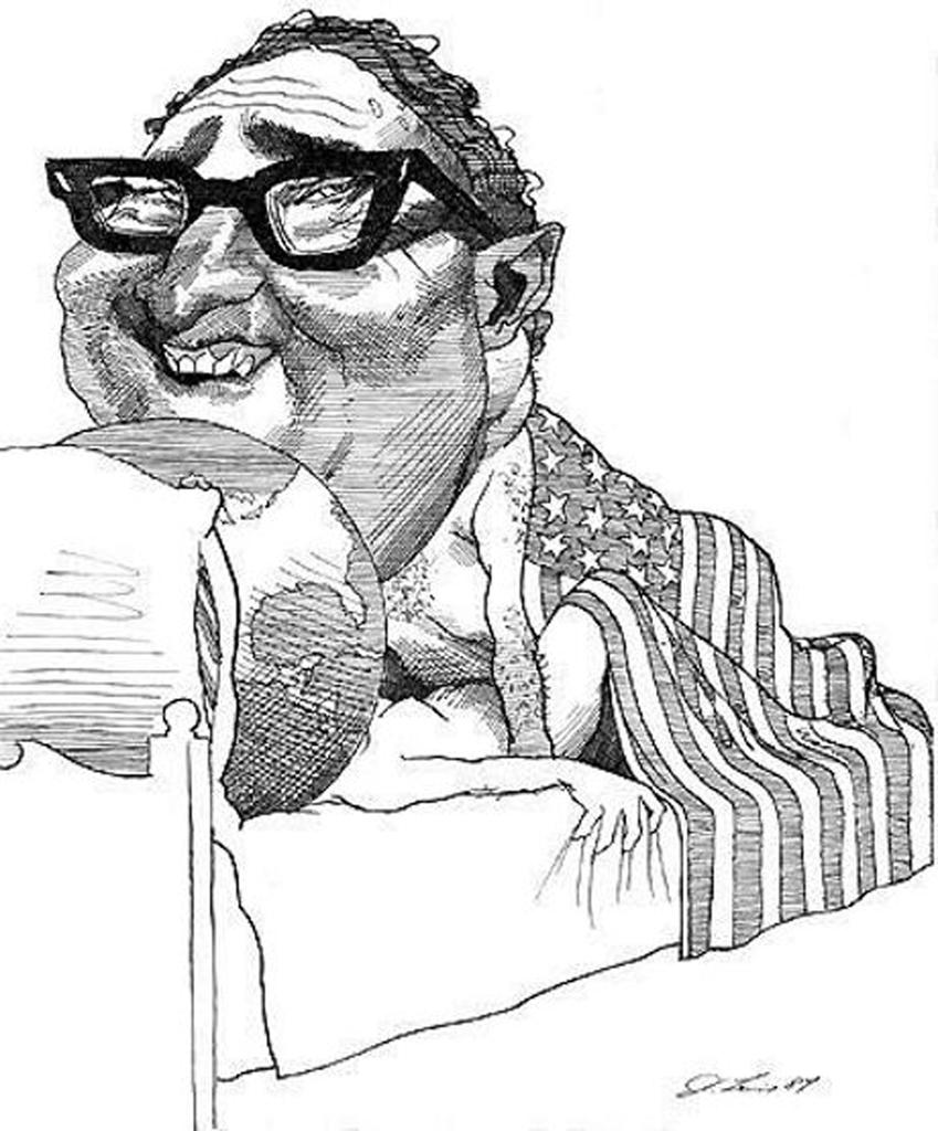 Výsledek obrázku pro kissinger karikatura